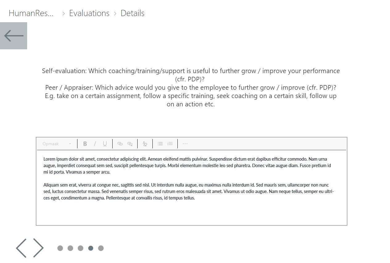 Powerapps medewerker evaluatie